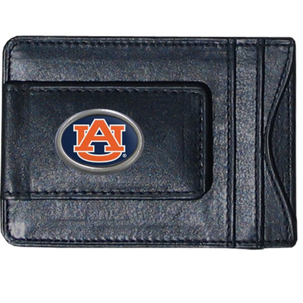 NCAA Auburn Tigers Leather Money Clip and Cardholder