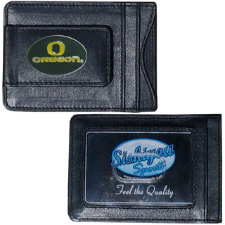 NCAA Oregon Ducks Leather Money Clip and Cardholder