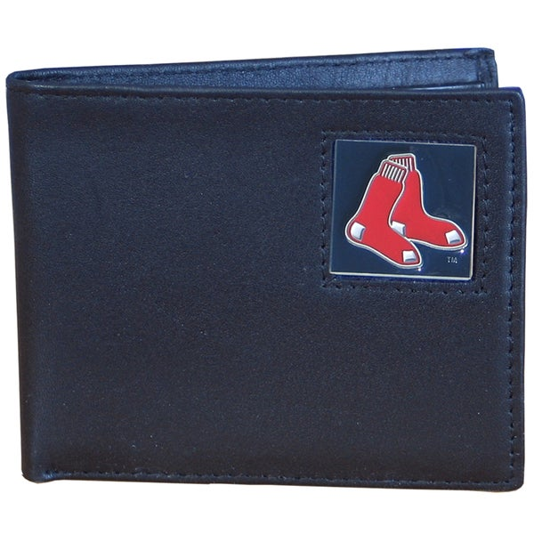 MLB Boston Red Sox Leather Bi-fold Wallet