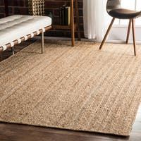 Havenside Home Duck Eco Natural Fiber Braided Reversible Jute Rug (6' x 9')
