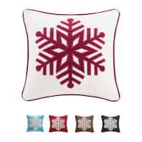 Madison Park Snowflake 20-inch Throw Pillow