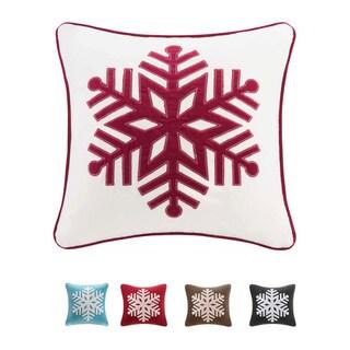 madison park snowflake 20inch throw pillow