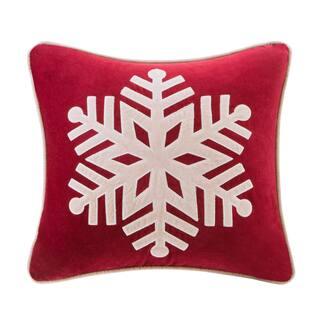 madison park cotton velvet snowflake 20 inch throw pillow