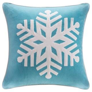 Madison Park Cotton Velvet Snowflake 20-inch Throw Pillow