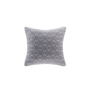 Madison Park Snowflake Knit Feather Down Filled 20-inch Throw Pillow
