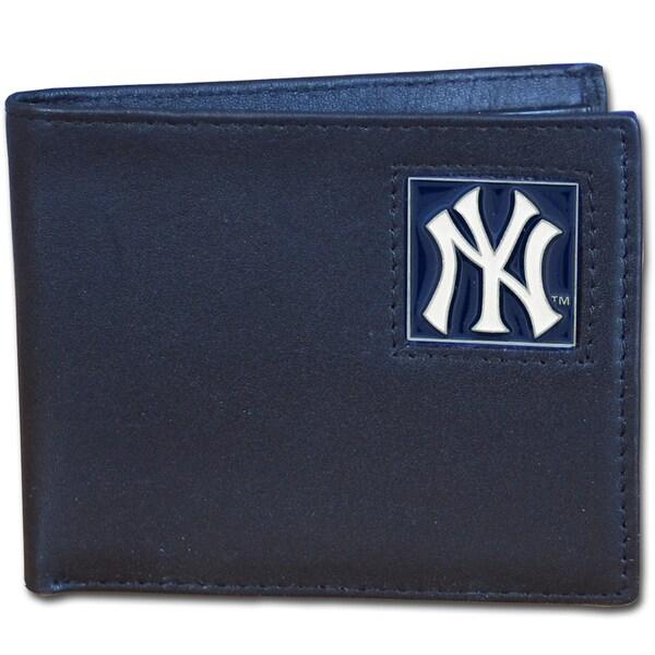 MLB New York Yankees Leather Bi-fold Wallet