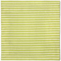Hand-woven Tailored Lime Outdoor Rug (8' x 8')