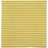 Hand-woven Tailored Yellow Outdoor Rug (8' x 8')