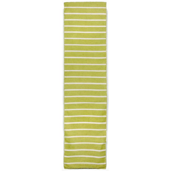 Hand Woven Tailored Lime Outdoor Rug 2 X 8 Free Shipping Today 9445107