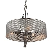 Varaluz Treefold 3-light Steel Pendant