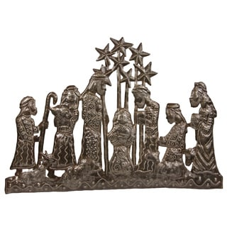 Handcrafted Twinkling Star Nativity Metal Wall Art (Haiti)