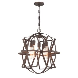 Varaluz Reel Rustic Bronze 5-light Pendant