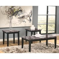 Signature Design by Ashley Maysville Faux Marble 3-piece Occasional Table Set