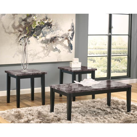 "Signature Design by Ashley Maysville 3 Piece Occasional Table Set - 48""W x 23.75""D x 19.25""H"