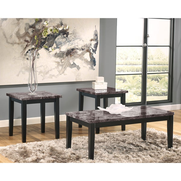 Marble Coffee Table Ashley Furniture: Shop Signature Design By Ashley Maysville Faux Marble 3