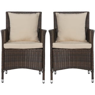 Handy Living Napa Estate Sandy Brown Indoor/Outdoor Dining Chair 2 Piece Set