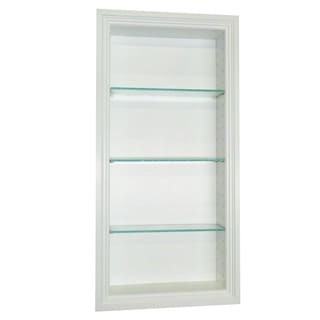 30-inch Recessed In-the-wall Belle Isle Niche in White