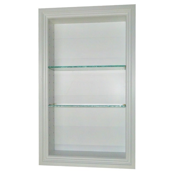 24 inch recessed in the wall belle isle niche in white free shipping today overstock com
