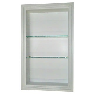 24-inch Recessed In-the-wall Belle Isle Niche in White