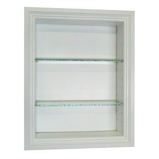 18-inch Recessed In-the-wall Belle Isle Niche in White