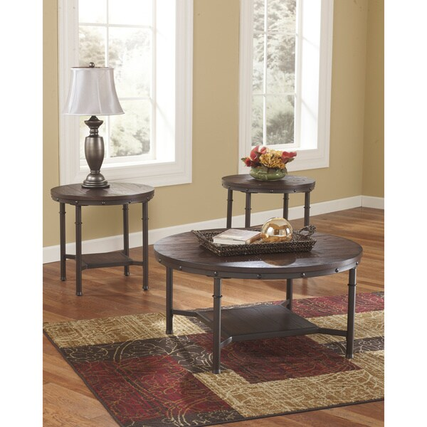Shop Signature Design By Ashley Sandling Piece Occasional Table - Ashley signature coffee table set