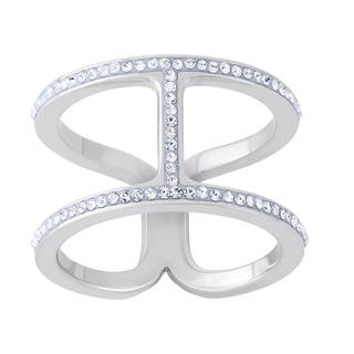Austrian Crystal Element Brass Silverplated High Fashion Ring|https://ak1.ostkcdn.com/images/products/9445268/P16630146.jpg?impolicy=medium