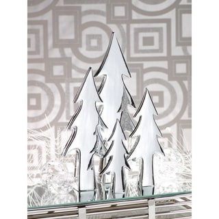 Silverplated Ceramic Stemmed Christmas Tree
