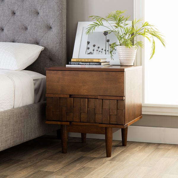Strick bolton tessuto 2 drawer night stand
