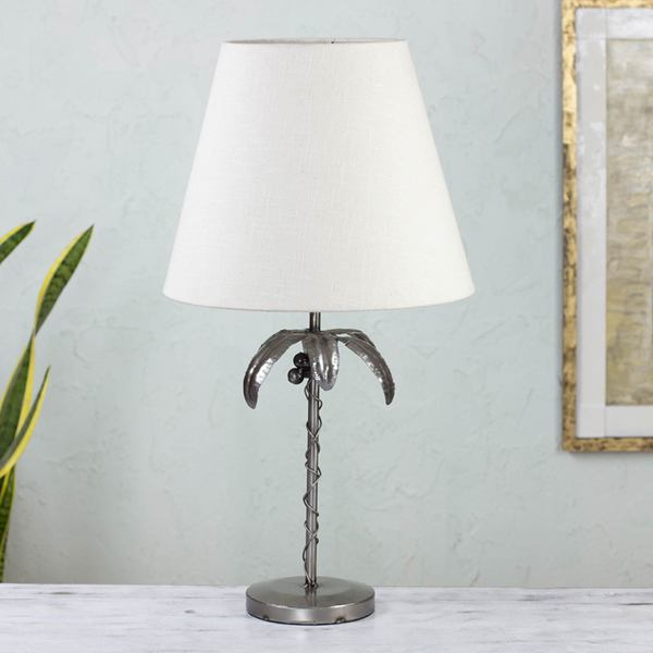 Handmade Auto Parts 'Cancun Coconut Palm' Table Lamp (Mexico)