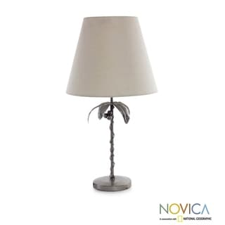Handcrafted Auto Parts 'Cancun Coconut Palm' Table Lamp (Mexico)