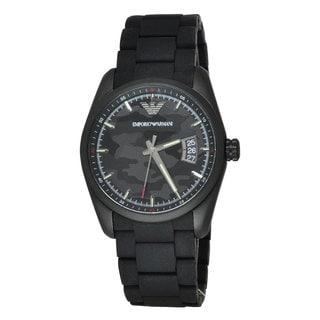 Armani Men's AR6052 Stainless Steel Sport Black Dial Watch