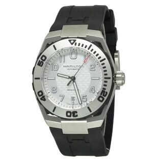 Hamilton Men's H78615355 Khaki Navy SUB Black/ White Watch
