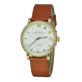 Marc Jacobs Women's Baker Brown Leather Watch