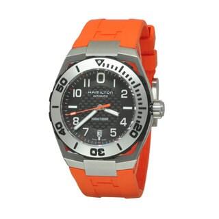 Hamilton Men's H78615985 Khaki Navy SUB Orange Watch