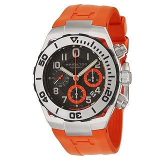 Hamilton Men's H78716983 Khaki Navy SUB Orange Watch