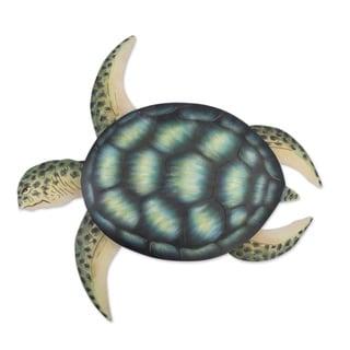 Handmade Sea Turtle Indoor Outdoor Patio Rustic Animal Decor Accent (Mexico)