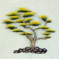 Handmade Cypress Tree Indoor Outdoor Patio Garden Green Yellow Brown Black Rustic Handmade Decor Accent Me (Mexico)