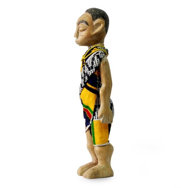 Handcrafted Sese Wood 'Man of Olden Ghana' Sculpture (Ghana)