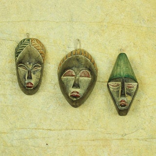 Set of 3 Handcrafted Sese Wood 'Three Wise Men' Ornaments (Ghana)