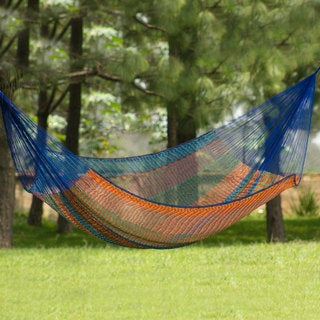 Handmade Cotton 'Colors of Mexico' Hammock (Double) (Mexico)