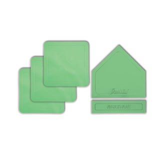 Franklin Sports Glow-in-thedDark Rubber-Tek 5-piece Base Set