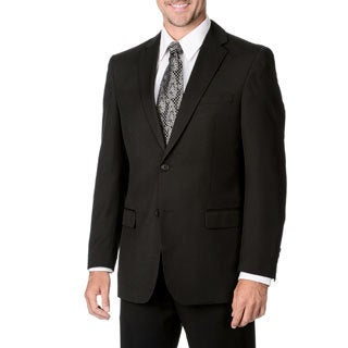 Marco Carelli Men's Big & Tall Black 2-button Blazer