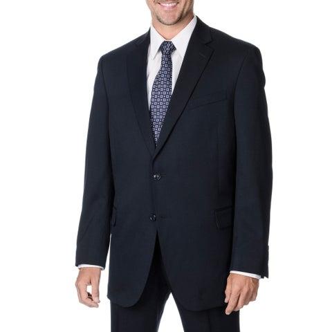 Palm Beach Men's Big & Tall Navy 2-button Suit Separate Wool Blazer