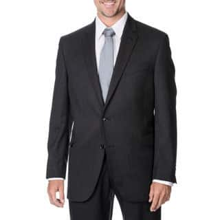 Palm Beach Men's Big & Tall Charcoal Striped 2-button Wool Blazer|https://ak1.ostkcdn.com/images/products/9447223/P16631905.jpg?impolicy=medium