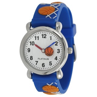 Geneva Platinum Kid's Basketball Design Silicone Watch