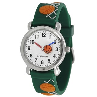 Geneva Platinum Kids' Basketball Design Silicone Watch