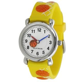 Geneva Platinum Kid's Basketball Design Silicone Watch (Option: Yellow) https://ak1.ostkcdn.com/images/products/9447241/P16631934.jpg?impolicy=medium