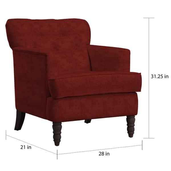 Incredible Shop Handy Living Sayre Sangria Red Chenille Armchair On Customarchery Wood Chair Design Ideas Customarcherynet