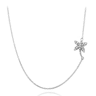 DB Designs Sterling Silver Diamond Accent Palm Tree Chain Necklace