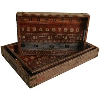 Wald Imports Ruler Designer Trays (Set of 3)